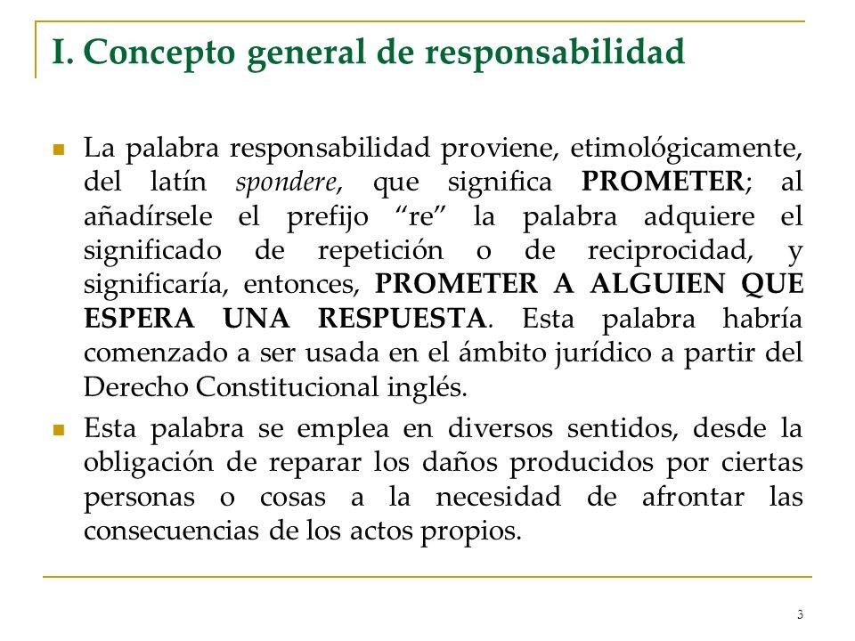 I. Concepto general de responsabilidad