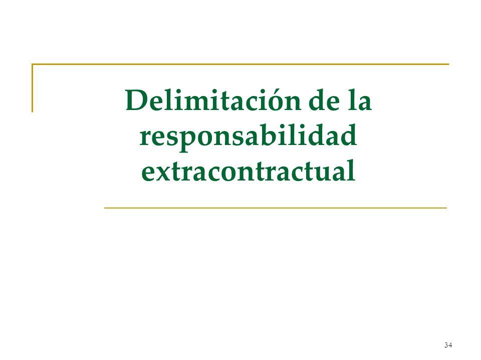 Delimitación de la responsabilidad extracontractual
