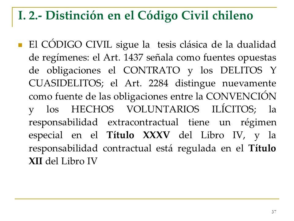 I. 2.- Distinción en el Código Civil chileno