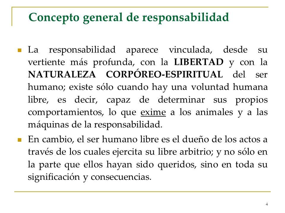 Concepto general de responsabilidad