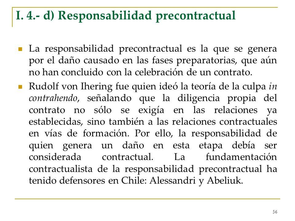 I. 4.- d) Responsabilidad precontractual