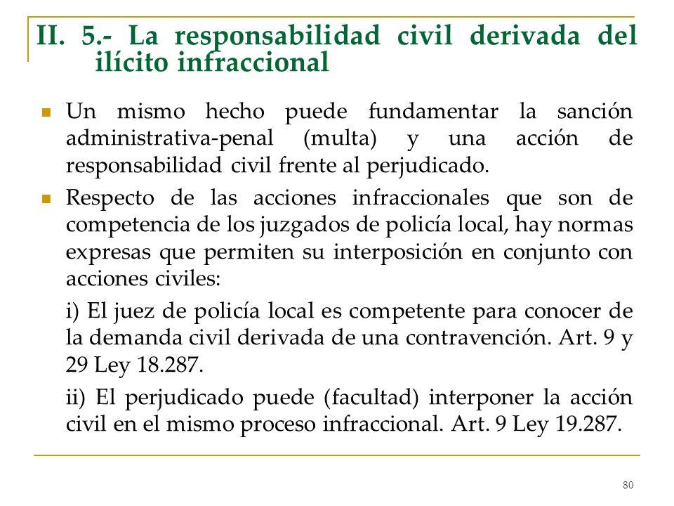 II. 5.- La responsabilidad civil derivada del ilícito infraccional