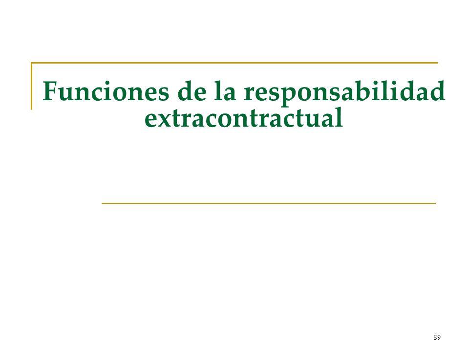 Funciones de la responsabilidad extracontractual