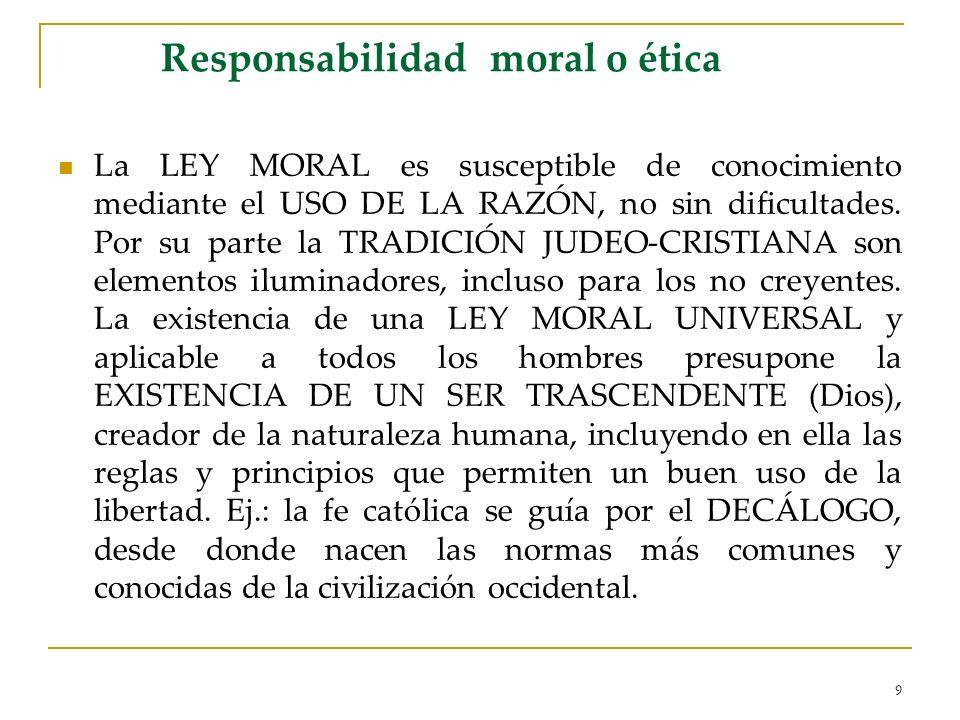Responsabilidad moral o ética