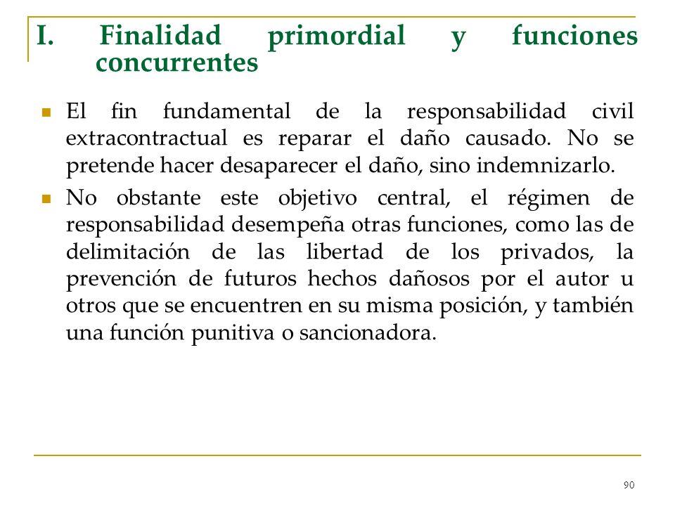 I. Finalidad primordial y funciones concurrentes