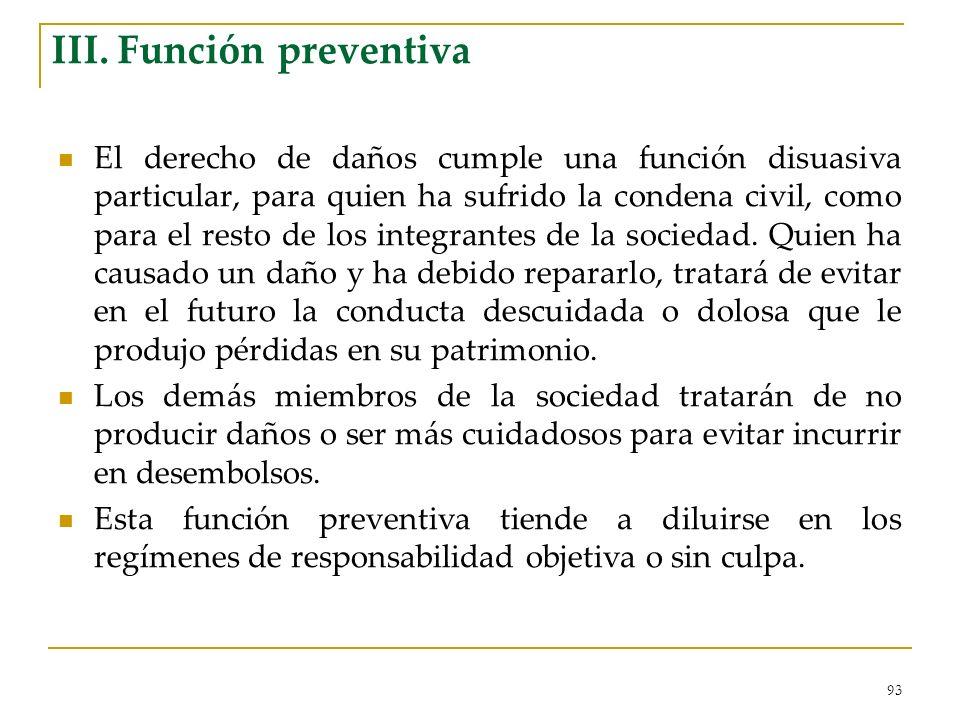 III. Función preventiva