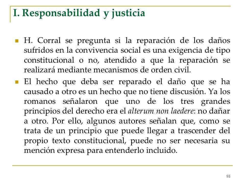 I. Responsabilidad y justicia