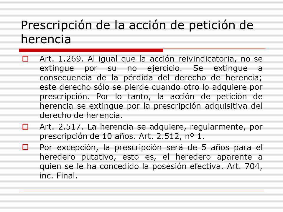 Prescripción de la acción de petición de herencia