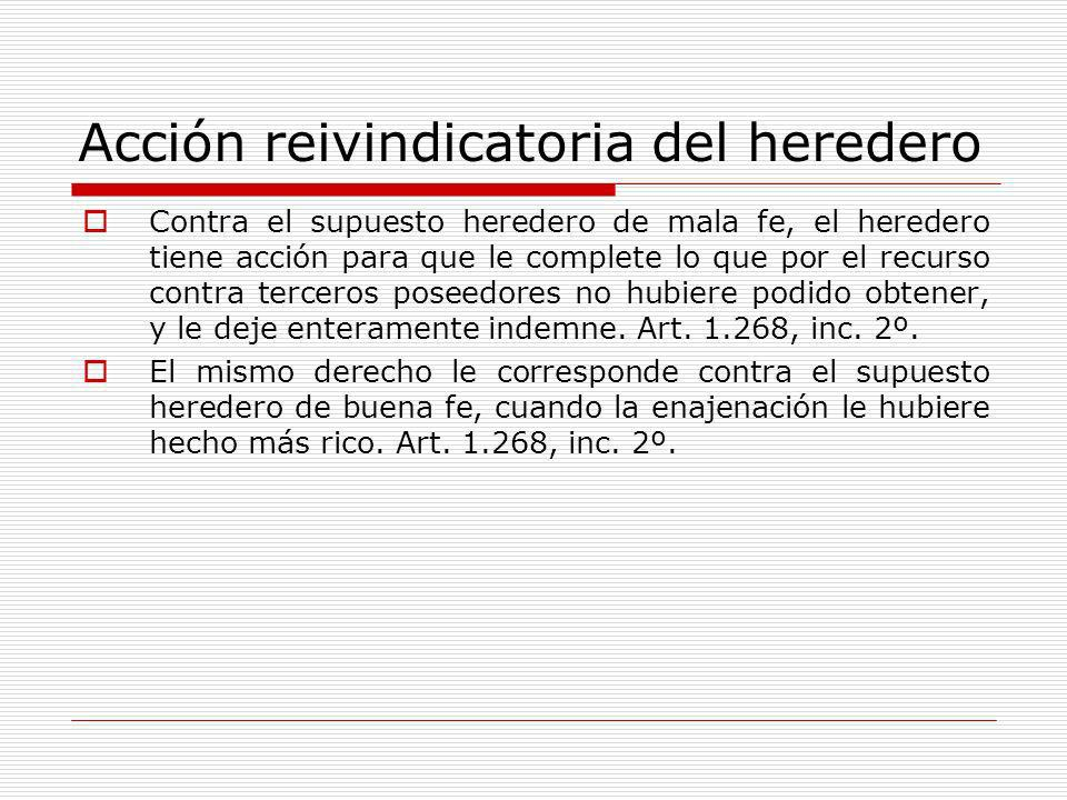 Acción reivindicatoria del heredero