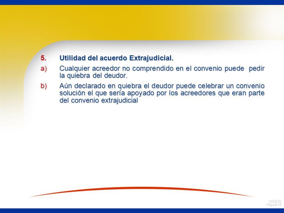 Utilidad del acuerdo Extrajudicial.