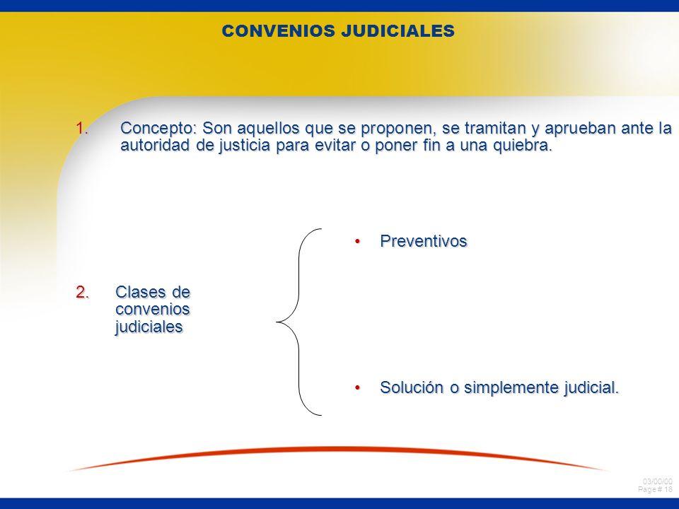 CONVENIOS JUDICIALES