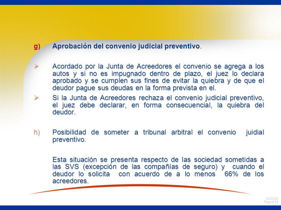 Aprobación del convenio judicial preventivo.