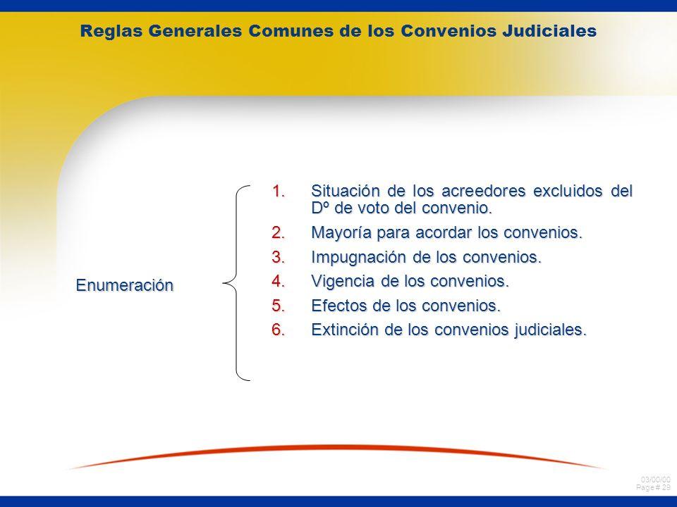 Reglas Generales Comunes de los Convenios Judiciales