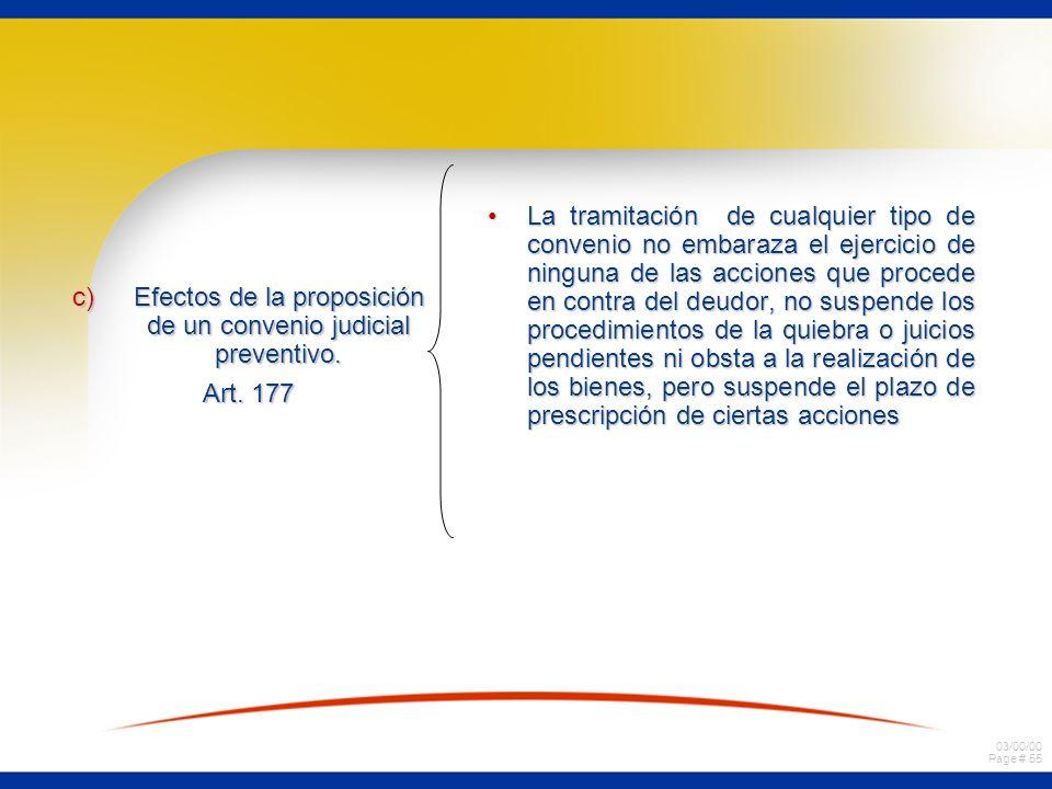 Efectos de la proposición de un convenio judicial preventivo.