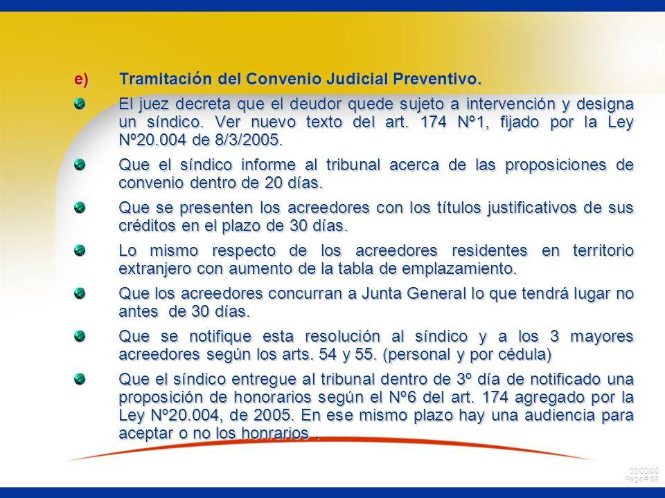 Tramitación del Convenio Judicial Preventivo.