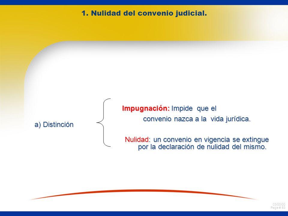 1. Nulidad del convenio judicial.