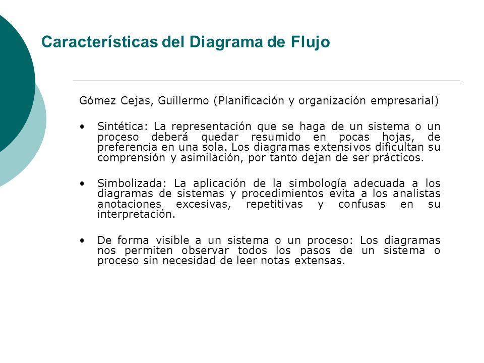 Características del Diagrama de Flujo