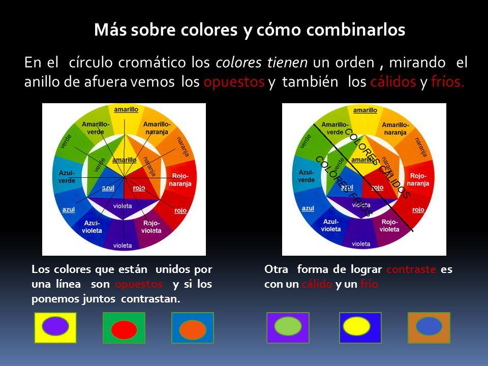 Más sobre colores y cómo combinarlos