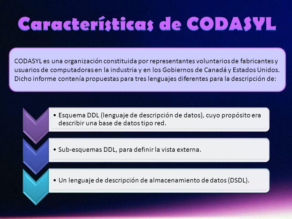 Características de CODASYL