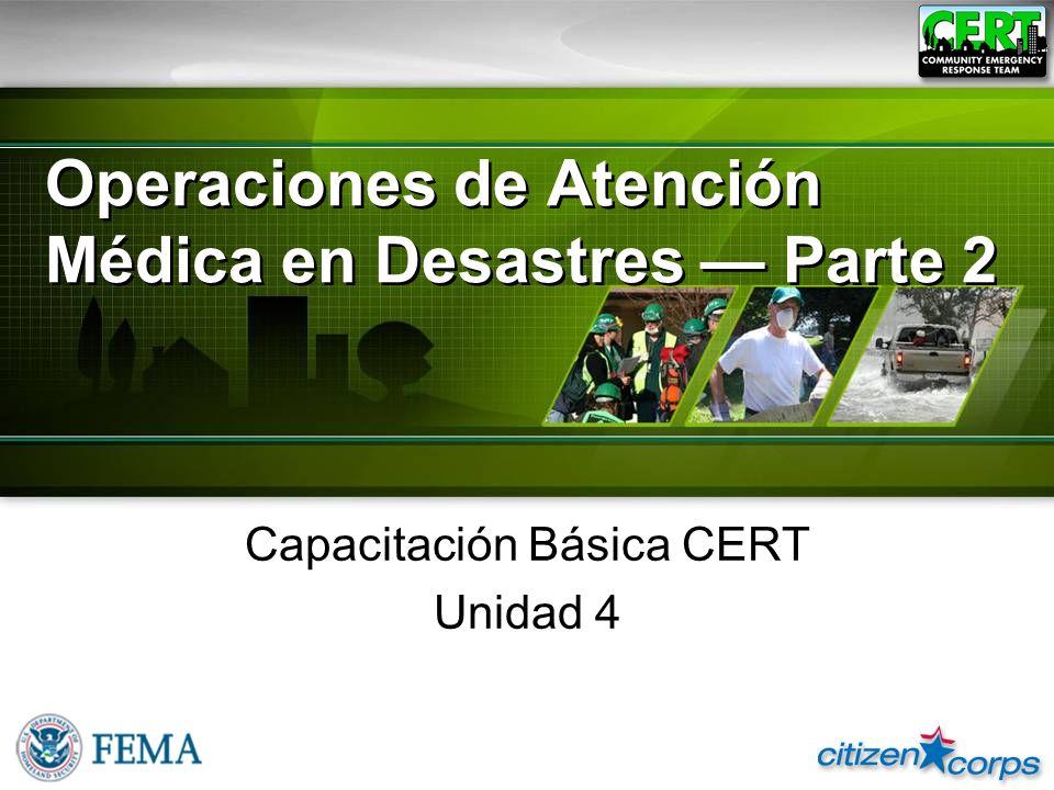 Operaciones de Atención Médica en Desastres — Parte 2
