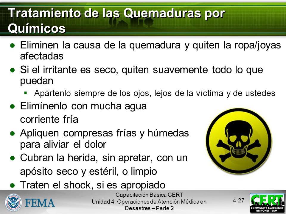 Tratamiento de las Quemaduras por Químicos