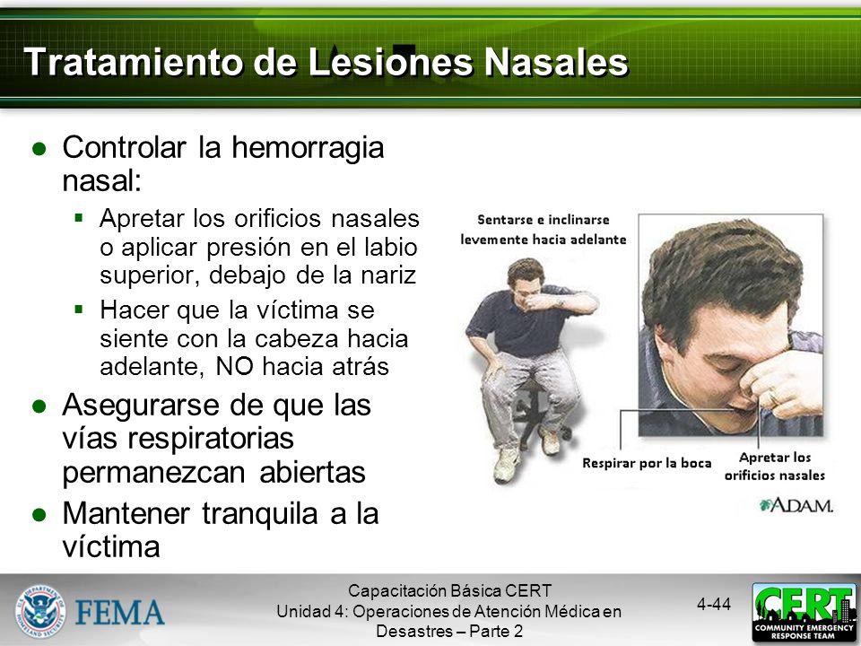 Tratamiento de Lesiones Nasales