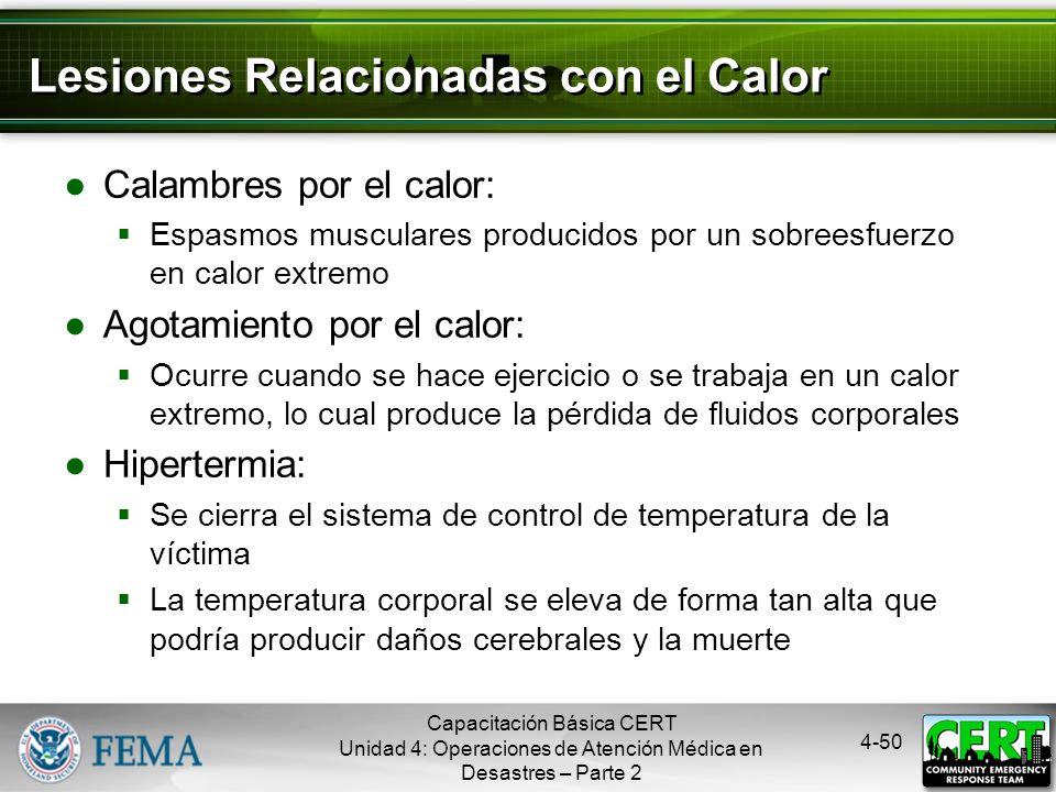 Lesiones Relacionadas con el Calor