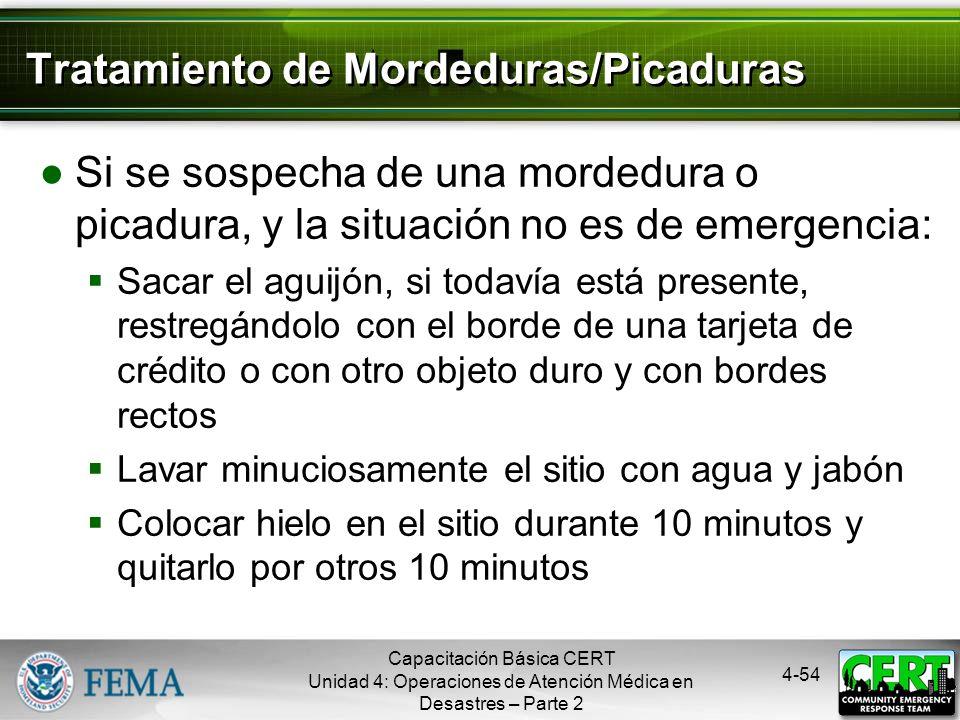 Tratamiento de Mordeduras/Picaduras