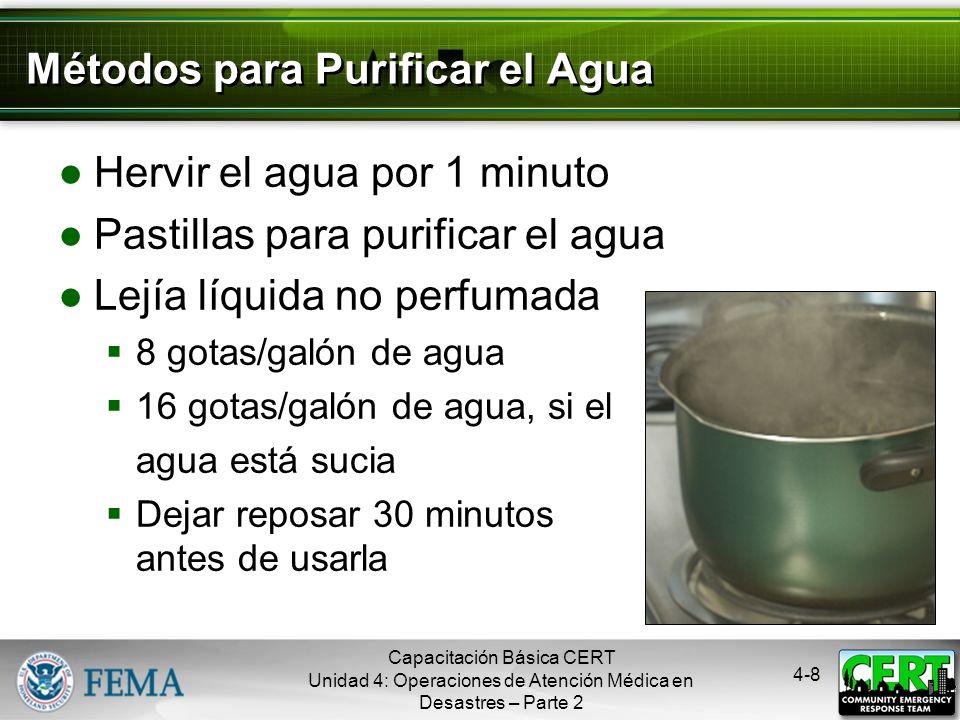 Métodos para Purificar el Agua