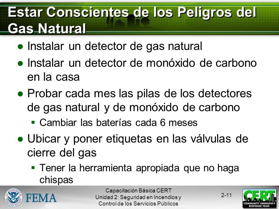 Estar Conscientes de los Peligros del Gas Natural