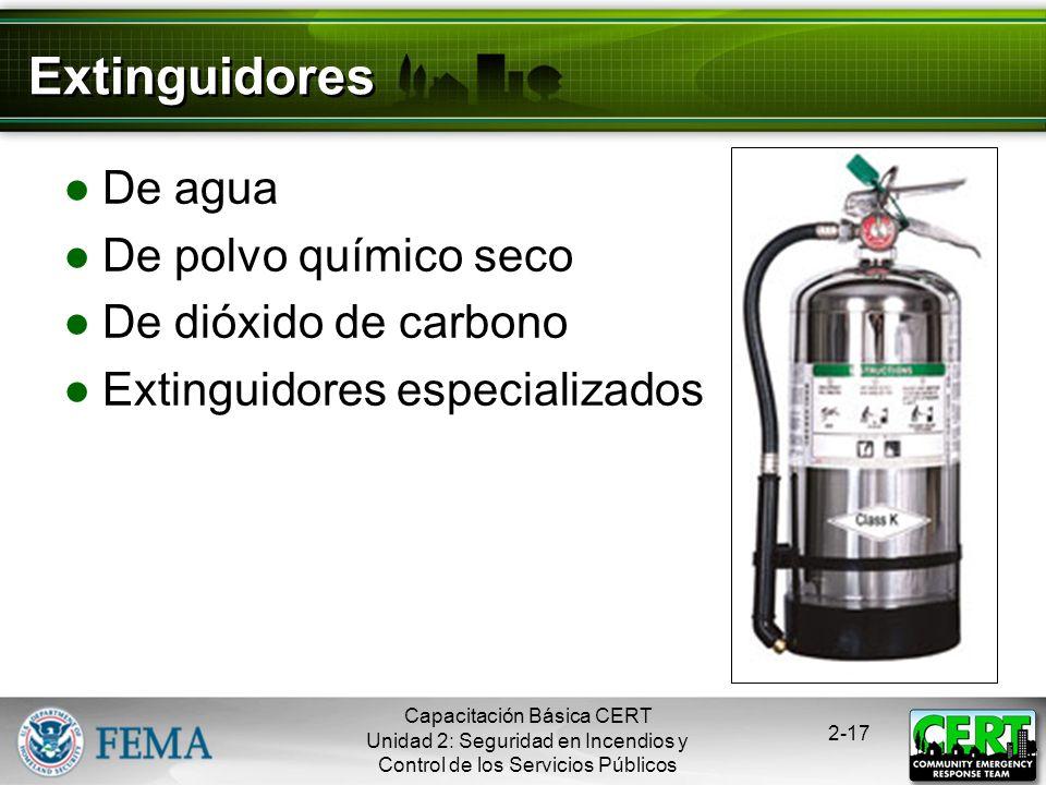 Extinguidores De agua De polvo químico seco De dióxido de carbono