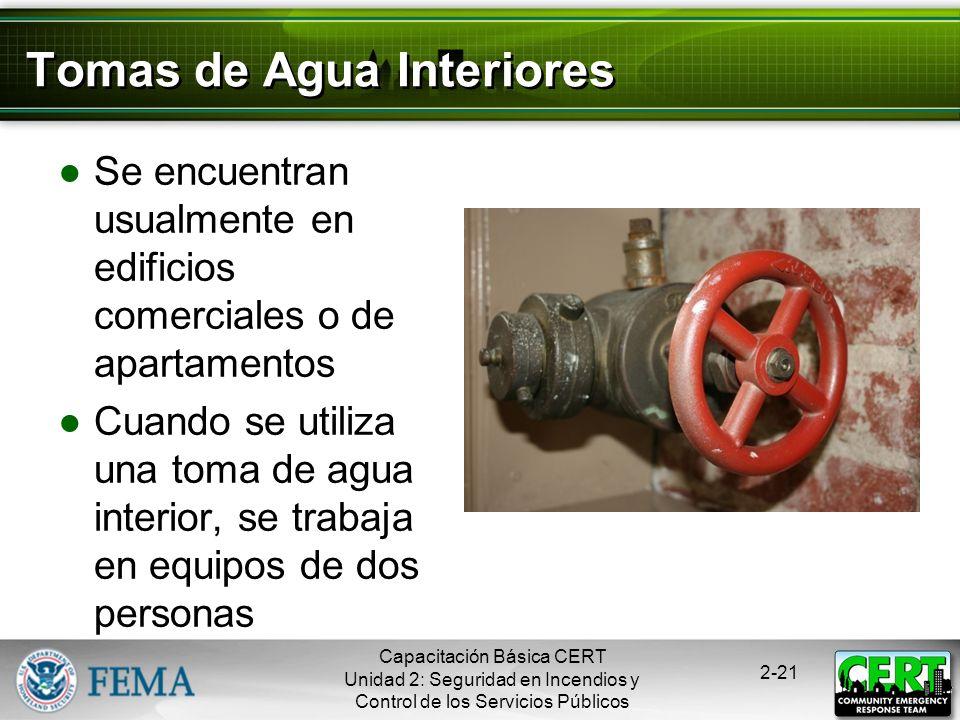 Tomas de Agua Interiores