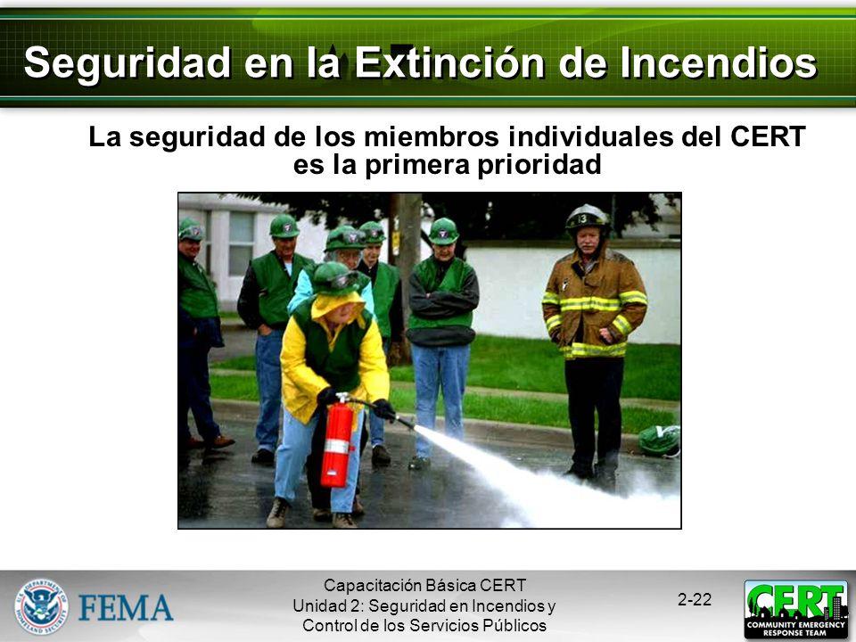 Seguridad en la Extinción de Incendios