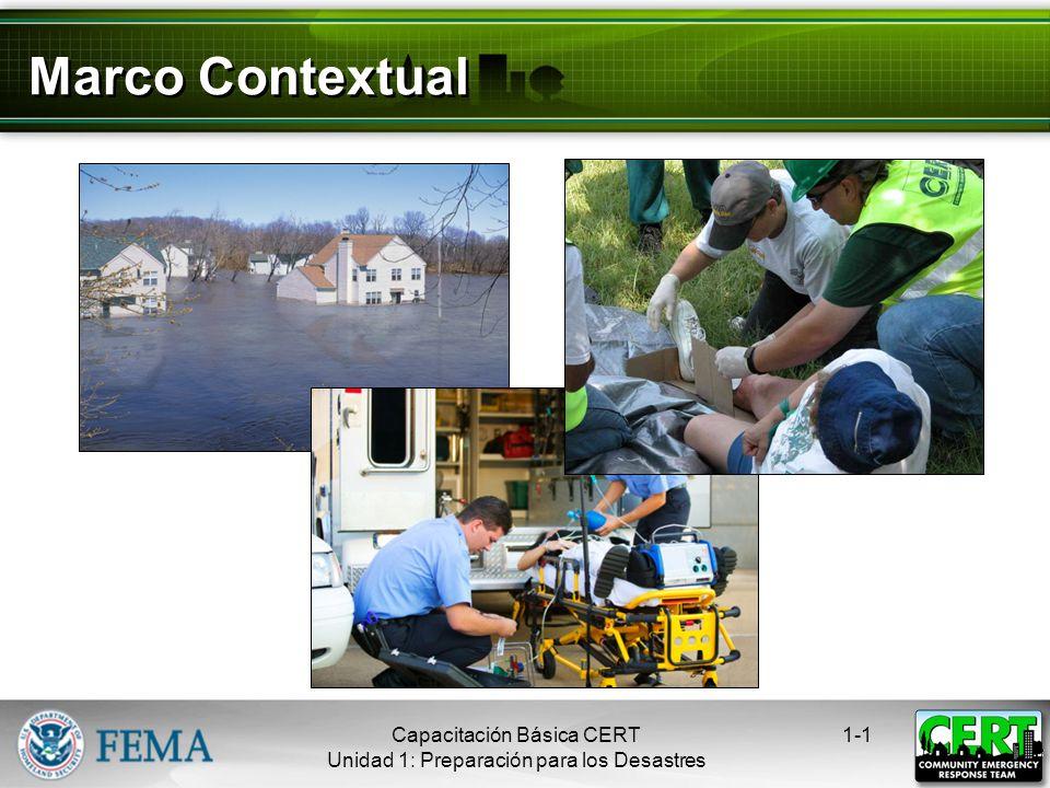 Marco Contextual Capacitación Básica CERT