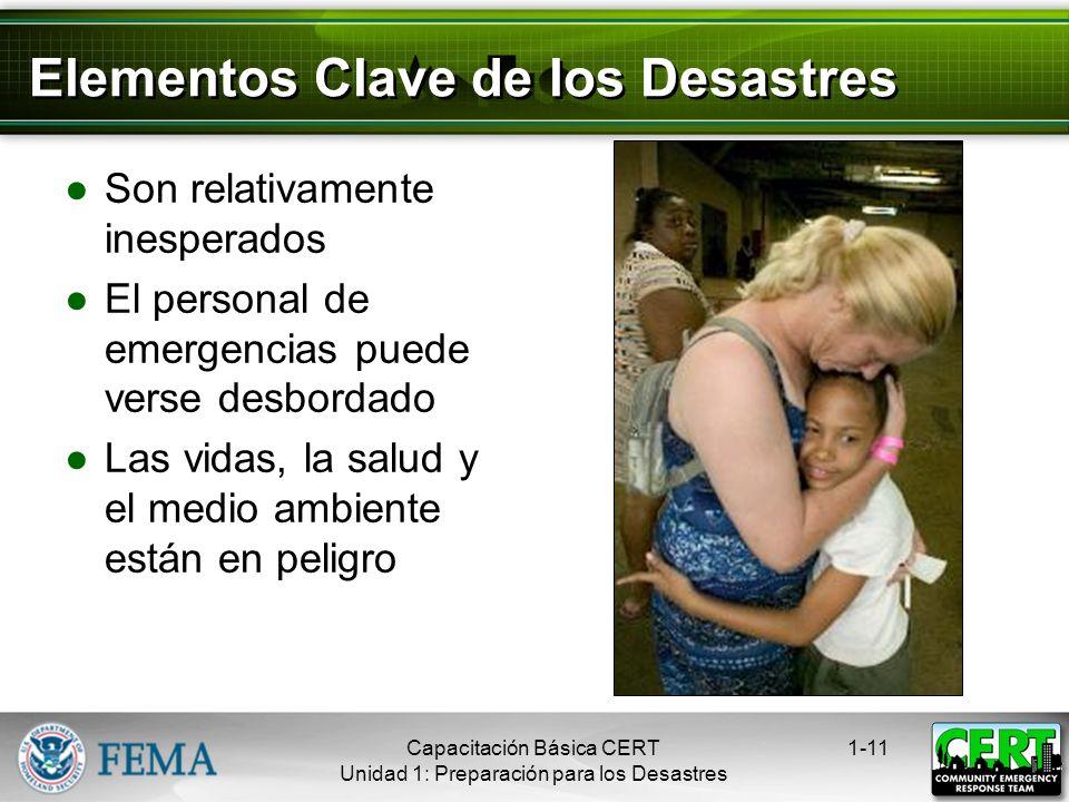 Elementos Clave de los Desastres