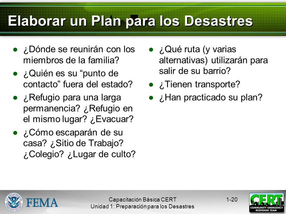 Elaborar un Plan para los Desastres