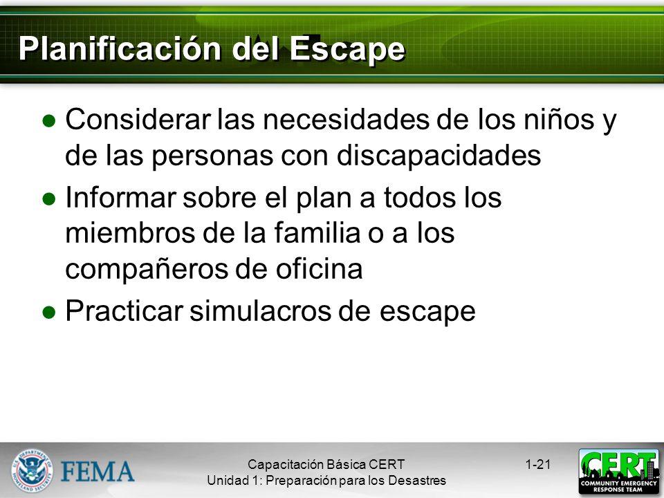 Planificación del Escape