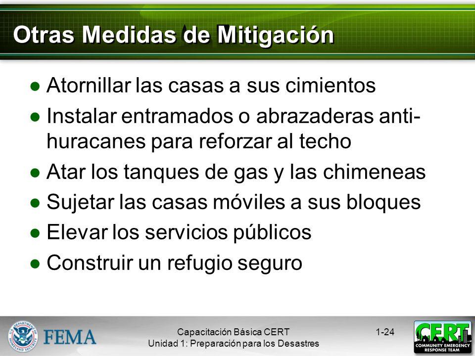 Otras Medidas de Mitigación