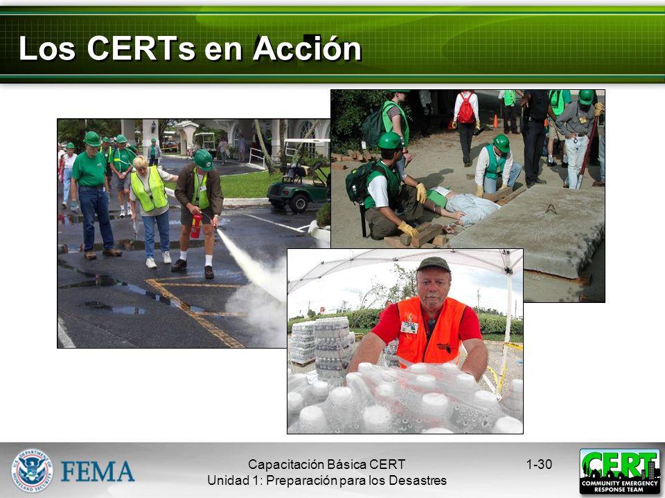 Los CERTs en Acción Capacitación Básica CERT
