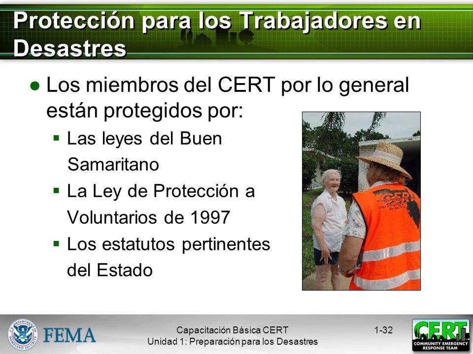 Protección para los Trabajadores en Desastres