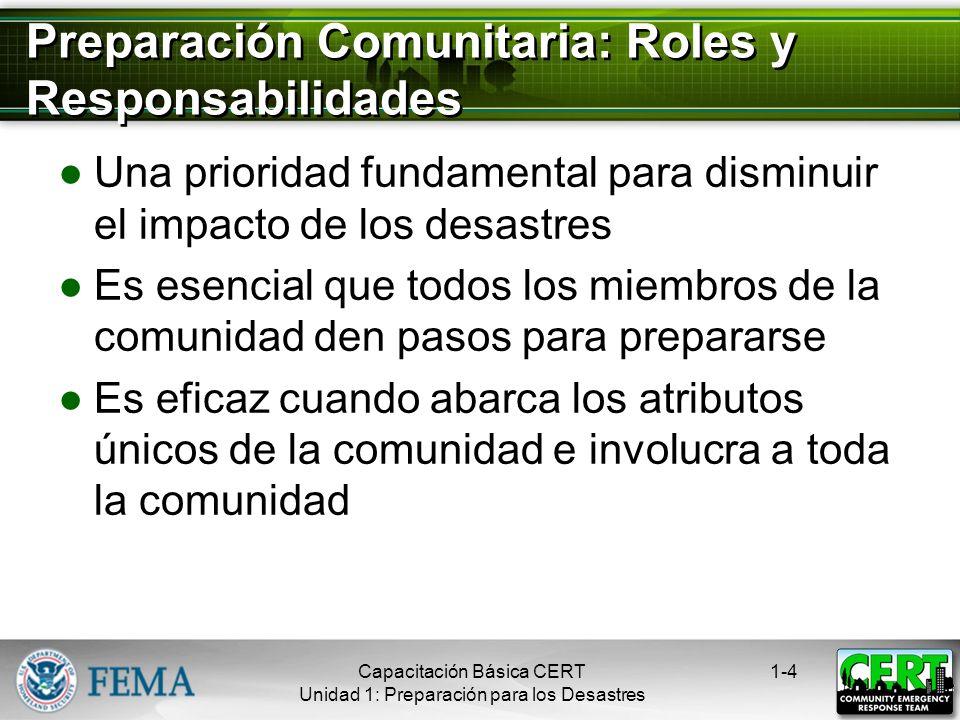 Preparación Comunitaria: Roles y Responsabilidades