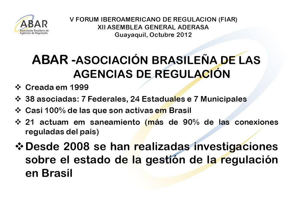 ABAR -ASOCIACIÓN BRASILEÑA DE LAS AGENCIAS DE REGULACIÓN
