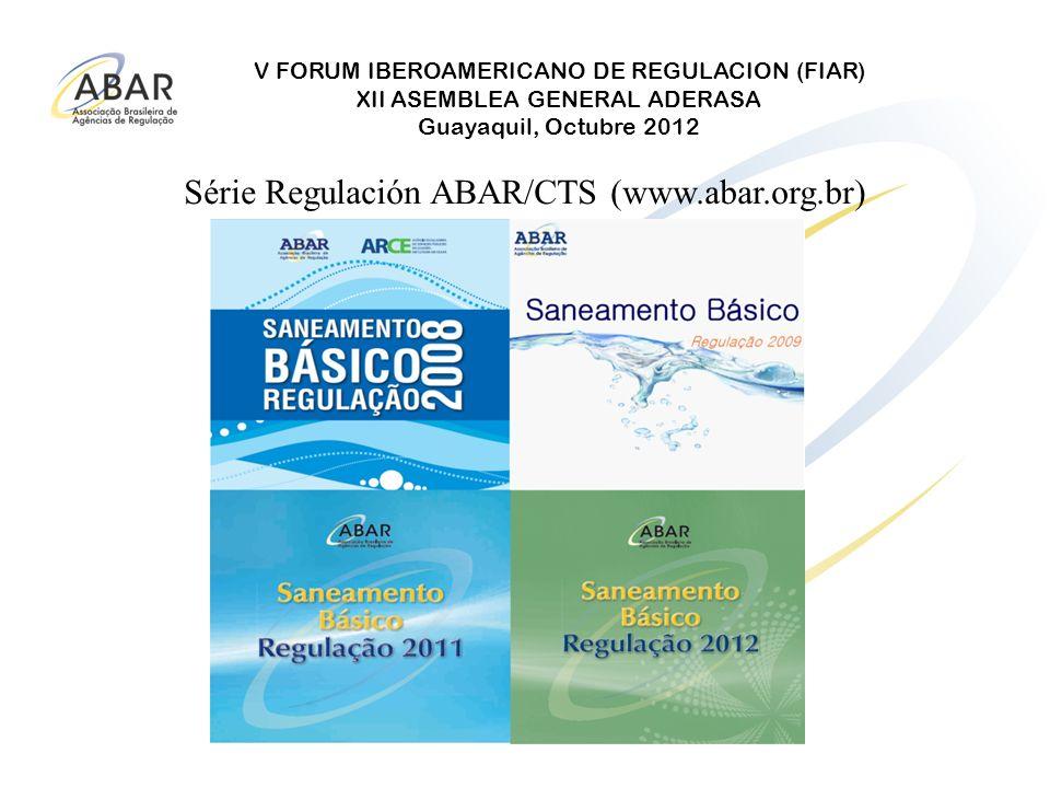 Série Regulación ABAR/CTS (www.abar.org.br)