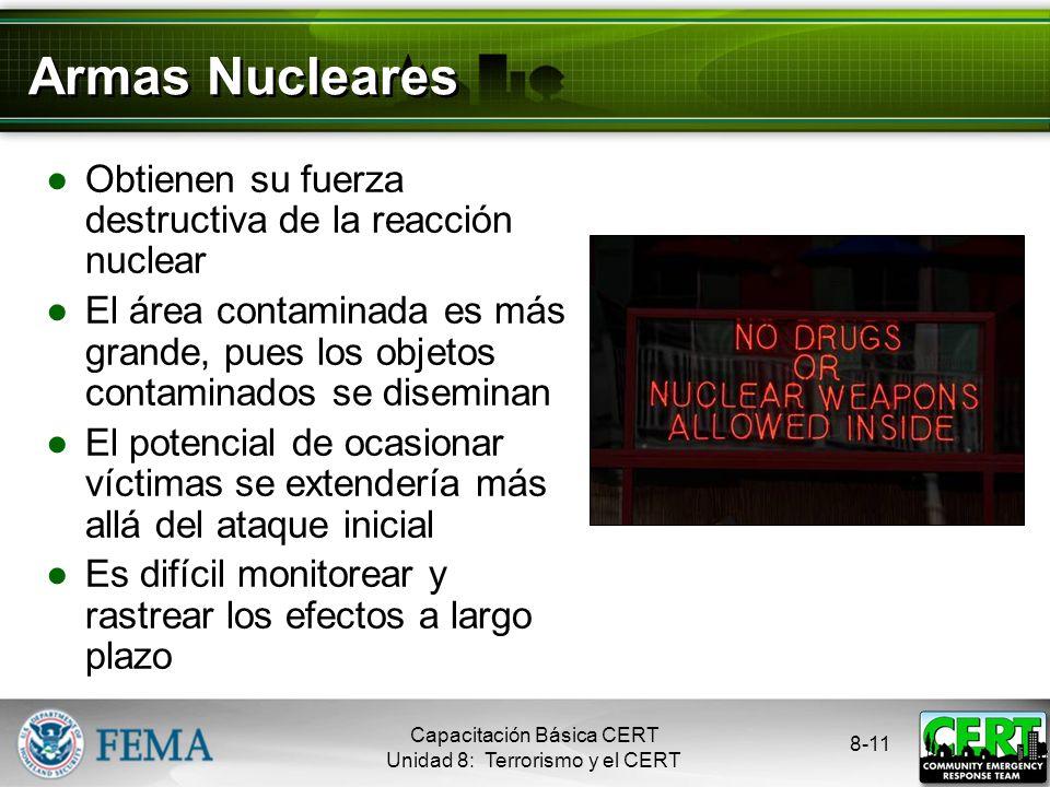 Armas Nucleares Obtienen su fuerza destructiva de la reacción nuclear