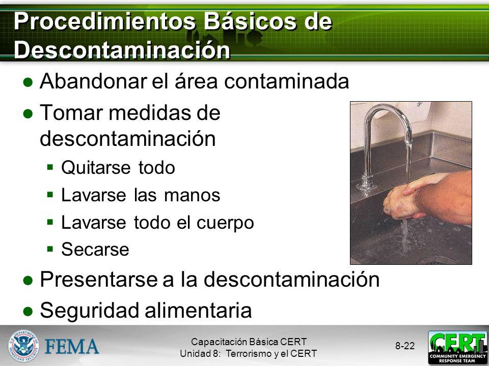 Procedimientos Básicos de Descontaminación