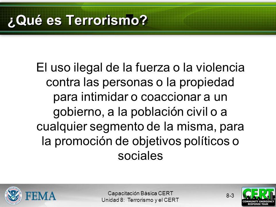 ¿Qué es Terrorismo