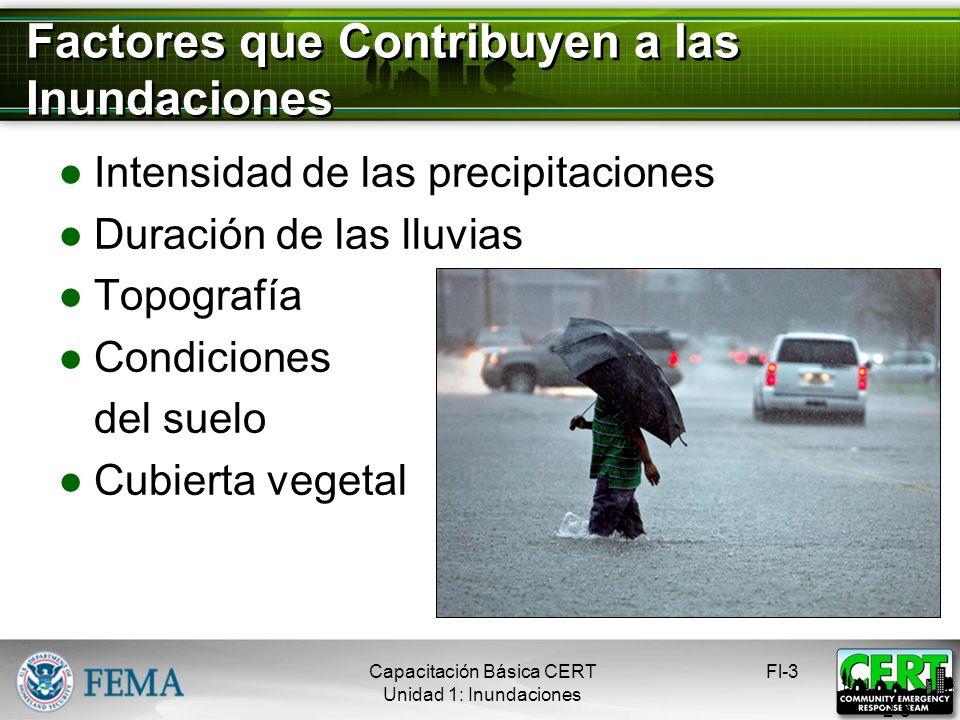 Factores que Contribuyen a las Inundaciones