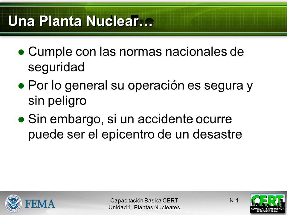 Una Planta Nuclear… Cumple con las normas nacionales de seguridad
