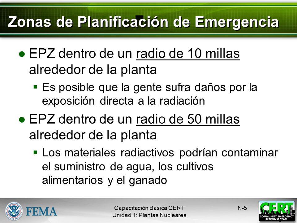 Zonas de Planificación de Emergencia