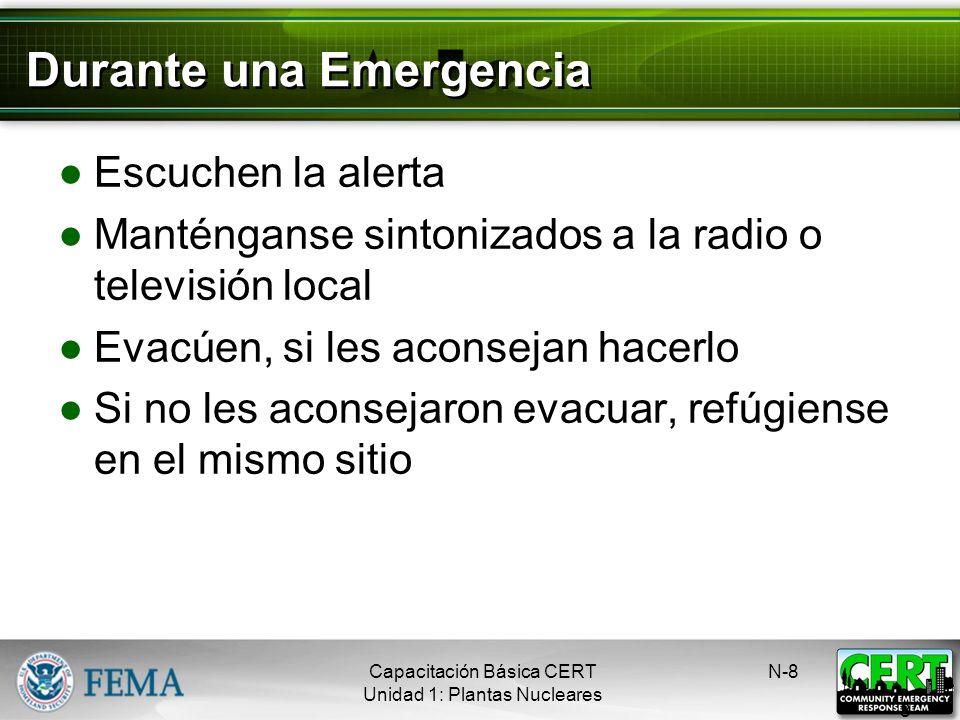 Durante una Emergencia